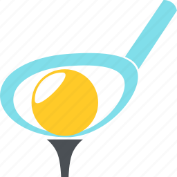 ball, equipment, game, golf, golf clubs, sports icon