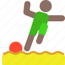 activity, outdoor, sand, soccer icon