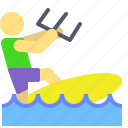activity, boat, extreme, flight, holidays, outdoor, surf icon