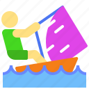 activity, extreme, outdoor, sea, surf, water, wind icon