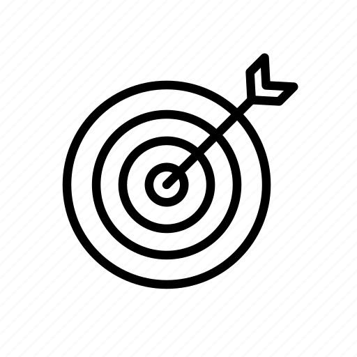 archery, darts, goal, target icon
