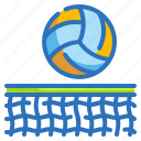 sports, competition, ball, net, volleyball