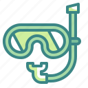 competition, diving, scuba, sports, tube icon
