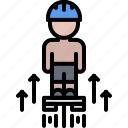equipment, flyboard, games, man, olympic, sport, water icon