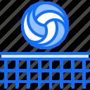 ball, equipment, games, net, olympic, sport, volleyball