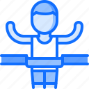 equipment, finish, games, man, olympic, sport, winner icon