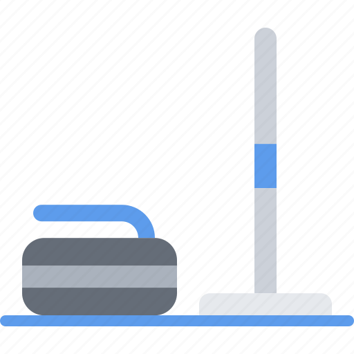 curling, equipment, games, mop, olympic, sport, stone icon