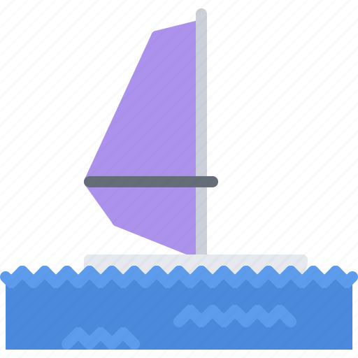 board, equipment, games, olympic, sail, sport, windsurfing icon