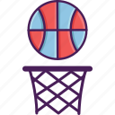 basketball, field, ball, activity, basket, sport icon