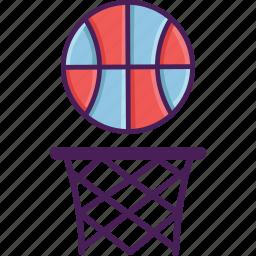 activity, ball, basket, basketball, field, sport icon
