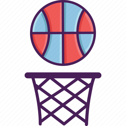 activity, ball, basket, basketball, field, sport icon