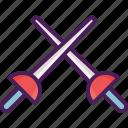 activity, fencing, sport, sword