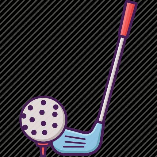 activity, ball, field, golf, sport, stick icon