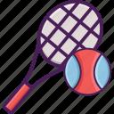 activity, field, net, racket, sport, tennis