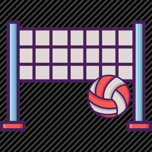 activity, ball, beach, field, net, sport, volley icon