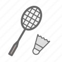 bedminton, bedminton racket, game, play, poonah, shuttlecock icon