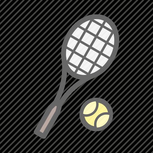 game, play, sport, tennis, tennis ball, tennis racket icon