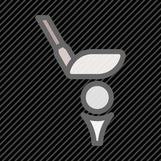 brassie, game, golf, golf ball, golf club, play, sport icon
