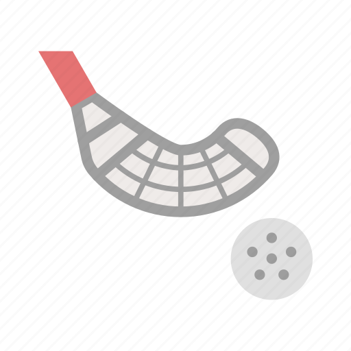 ball, floorball, floorball stick, game, play, sport, stick icon