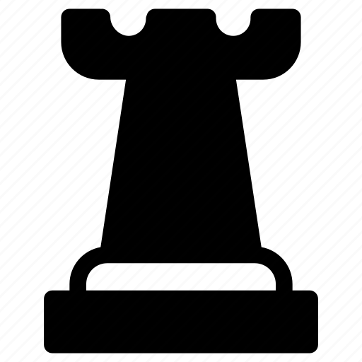 castle, chess, chess piece, game, strategy icon