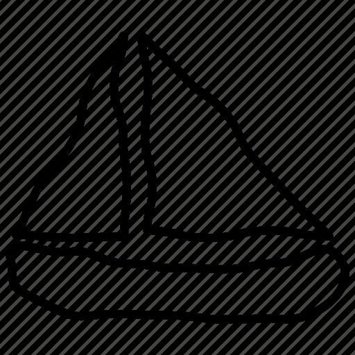 boat, sailboat, sailing, surf icon