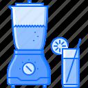 blender, fitness, gym, juice, orange, sport, training icon
