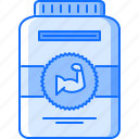 gym, jar, muscle, protein, sport, supplement, training icon