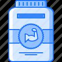gym, jar, muscle, protein, sport, supplement, training