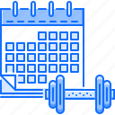 calendar, fitness, gym, schedule, sport, training icon