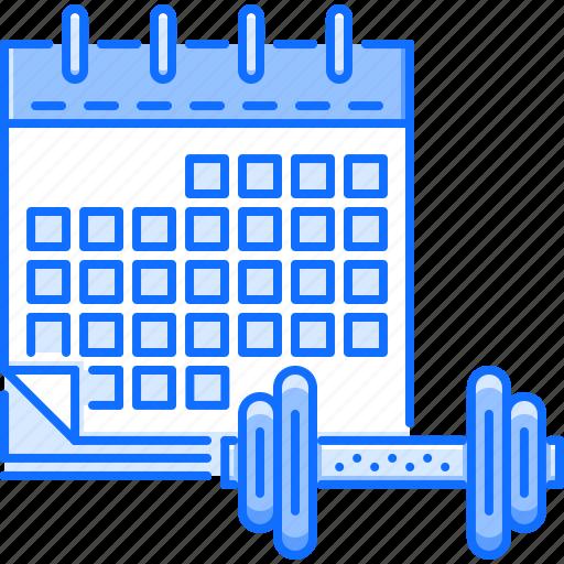 Calendar, fitness, gym, schedule, sport, training icon - Download on Iconfinder