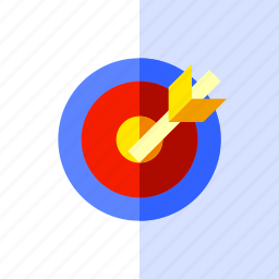 archery, goal, play, sport, target icon