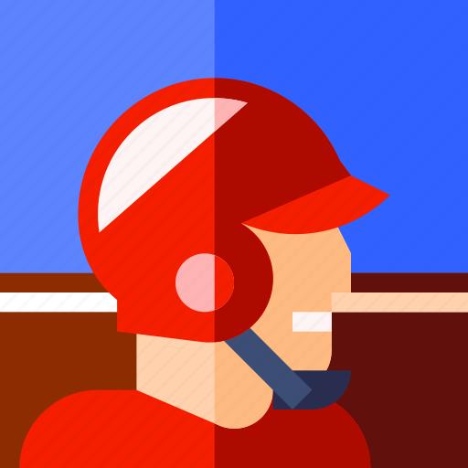 baseball, helmet, play, player, sport icon