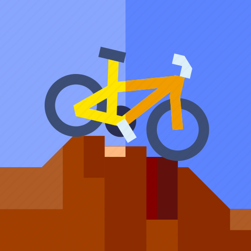 bike, downhill, extreme sport, play, sport icon