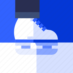 fitness, health, ice, play, skate, sport icon