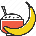 banana, food, fruit, healthy food, porridge icon