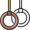 gymnastic rings, brown, gymnastic, ring
