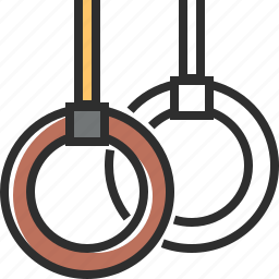 brown, gymnastic, gymnastic rings, ring icon