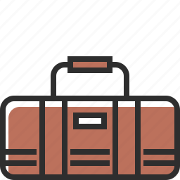bag, brown, fitness, sport bag icon