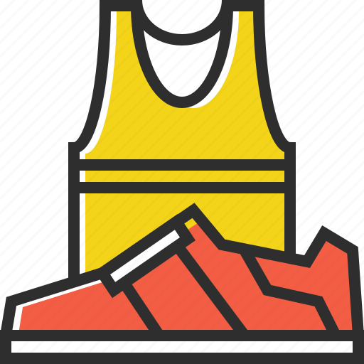 sneakers, sport clothes, sports, t-shirt icon
