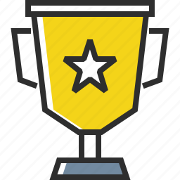 cup, golden cup, star, winner icon