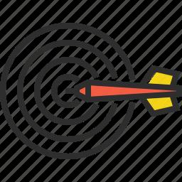 dart, dartboard, darts, target icon