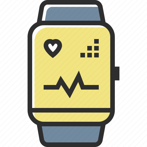 apple, clock, fitness tracker, time, watch icon