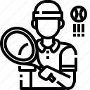 avatar, man, player, sport, sporty, tennis icon
