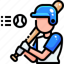 avatar, baseball, man, occupation, player, sport