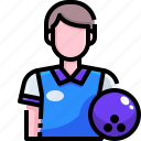 avatar, ball, bowling, game, player, sport