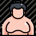 avatar, fighter, people, rikishi, sumo, wrestling icon