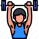 avatar, fitness, gym, gymnast, sports, weightlifter, weightlifting icon