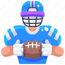 american, football, game, people, player, rugby, sport icon