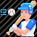 avatar, baseball, man, occupation, player, sport icon