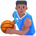 avatar, basketball, man, people, player, sports icon